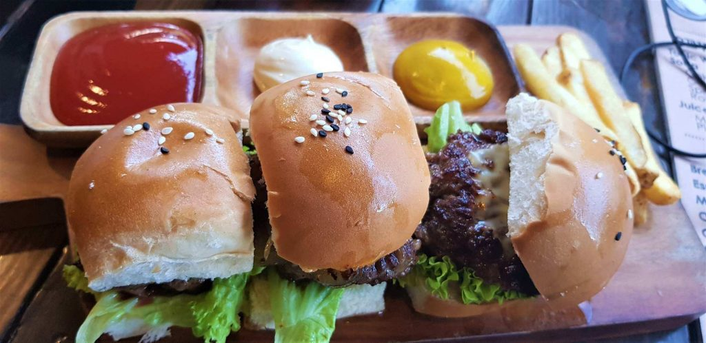 Burgers at Get Real Cafe in Coron