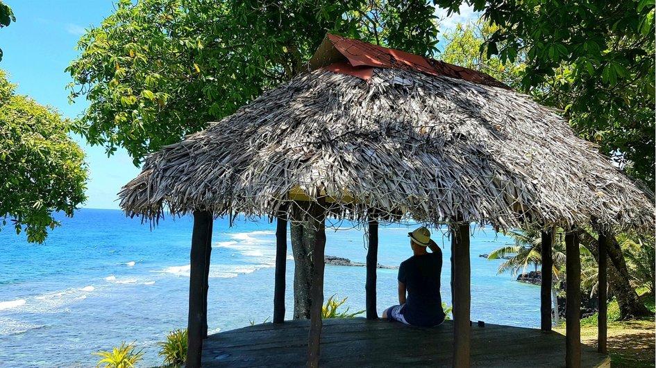 Views over south-coast Samoa