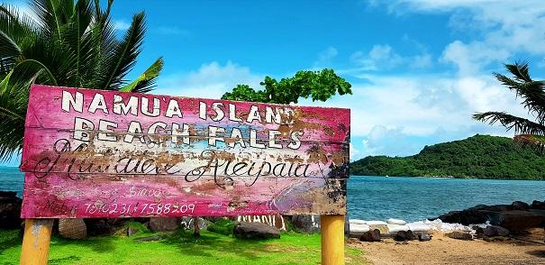 Namua Island take off