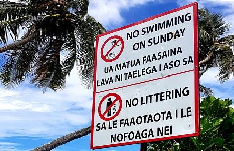 Not allowed on Sunday