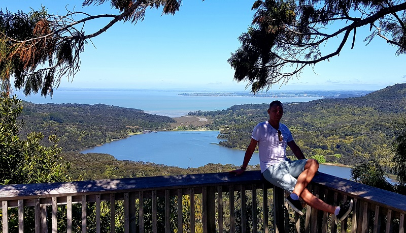 Auckland lookout at Arataki Visitor Centre in Waitakere Ranges