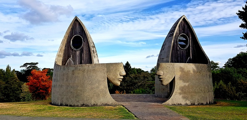 The famous Matakana public toilets, North Auckland