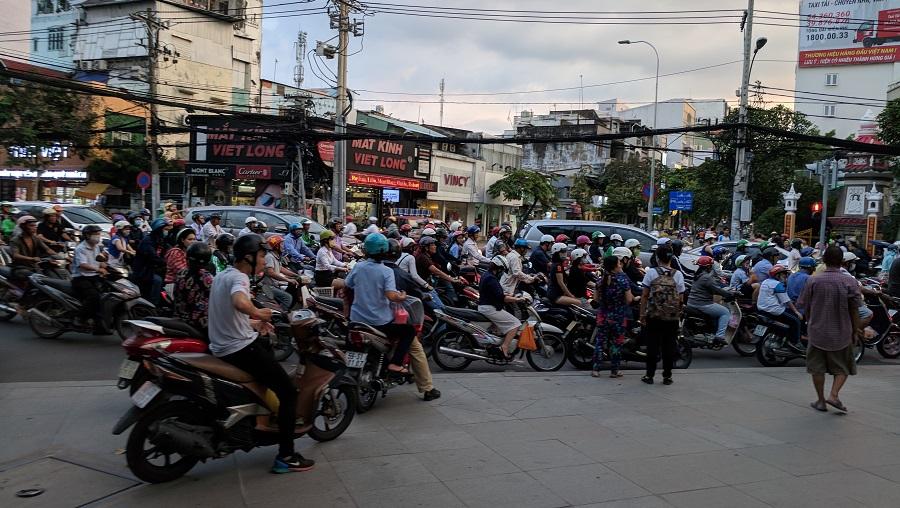 Traffic jams in Vietnam