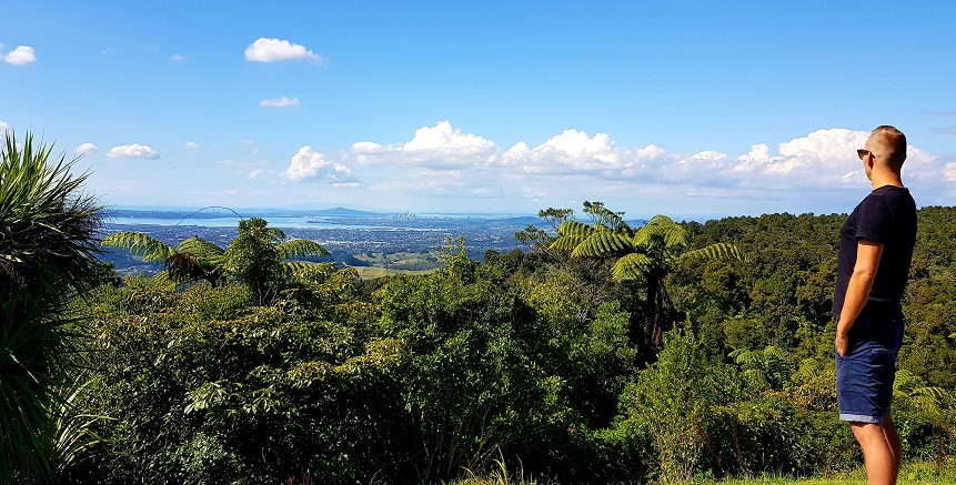 Auckland City Lookout in Waitakere Valley