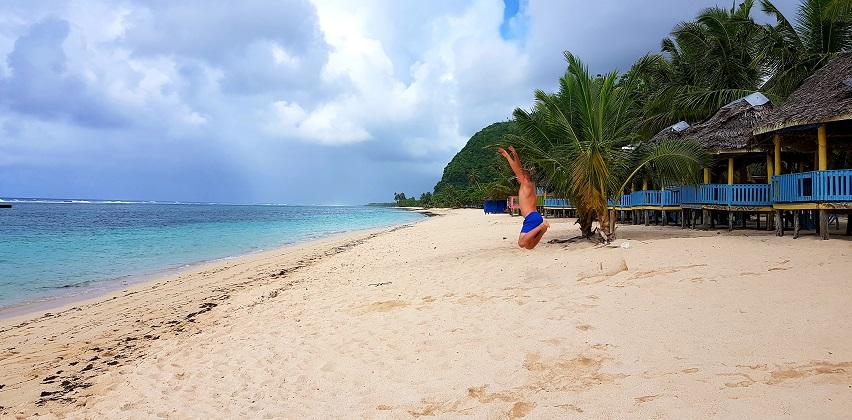 Taufua Beach Fales in Lalomanu Beach, Samoa