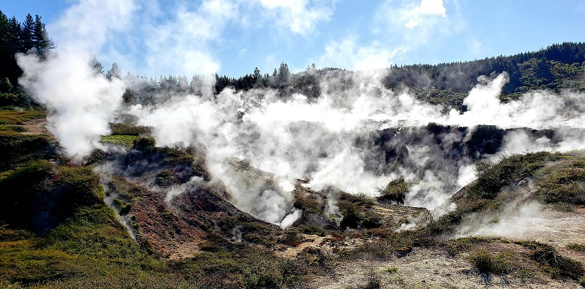 Geothermal wonderland in Taupo, New Zealand