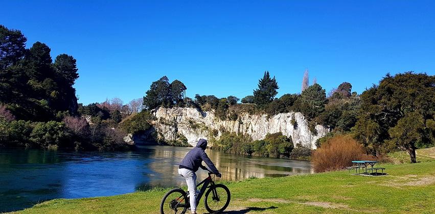 Biking trails in Taupo, New Zealand