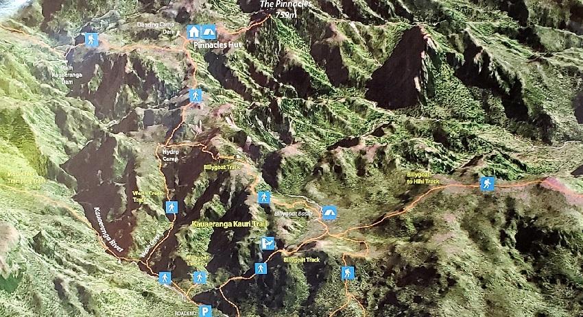The Pinnacles trail Map